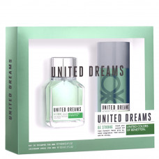Kit Benetton United Dreams Be Strong for Men EDT ( Perfume 100ml + Desodorante Spray 150ml )