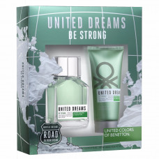 Kit Benetton United Dreams Be Strong for Men EDT ( Perfume 100ml + After Shave 100ml )