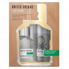 Kit Benetton Aim High (Perfume EDT 100 ml + Deo Spray 150 ml)
