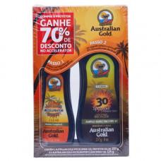 Kit Australian Gold Protetor FPS 30 237g + Acelerador 125g