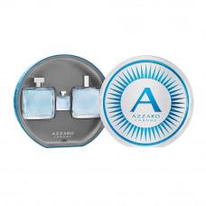 Kit Azzaro Chrome (Perfume 100ml + After Shave 100ml + Miniatura Perfume 7ml)