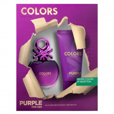 Kit Colors Purple for Her (Perfume 80 ml + Body Lotion 75 ml)