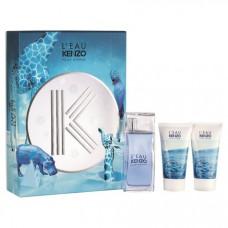 Kit L'eau Kenzo Pour Homme (1 Perfume50 ml + 2 Shower Gel 50ml cada )