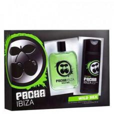 Kit Pacha Ibiza Wild Sex Masculino EDT ( Perfume 100ml + Shower Gel 75ml )