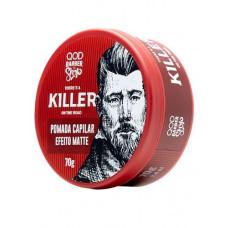 Pomada Capilar Killer Efeito Matte Fixação Alta 70g - QOD Barber Shop