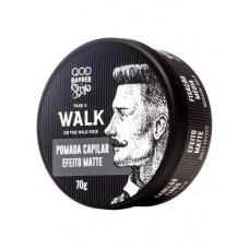 Pomada Capilar Walk Efeito Matte Fixação Média 70g - QOD Barber Shop