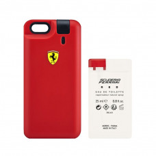Perfume Ferrari Red Masculino EDT 25ml + Refil EDT 25ml + Capa Ferrari Red Para iPhone 6 / 6S