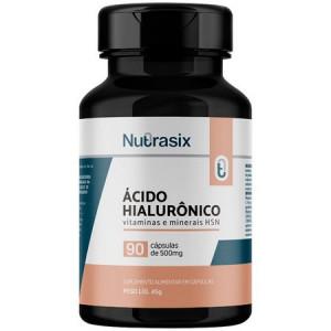 Ácido Hialurônico 150mg - 90 Cápsulas - Antienvelhecimento Nutrasix